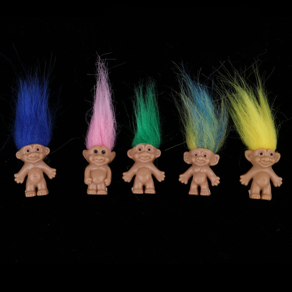 10 pcs//lot Vintage Trolls Lucky Doll Mini Figures Toy Cake Toppers Decoration