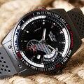 WINNER Watch Men Analog Casual Army Fashion Automatic Mechanical Sport Wristwatch Military Day Silicone Band Strap Aviator