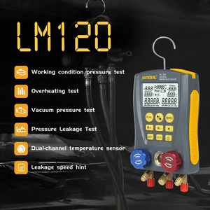 Image 2 - Autool LM120 + Airconditioning Spruitstuk Digitale Vacuum Gauge Voor Koeling Hvac Vacuüm Druk Temperatuur Tester Pk Testo
