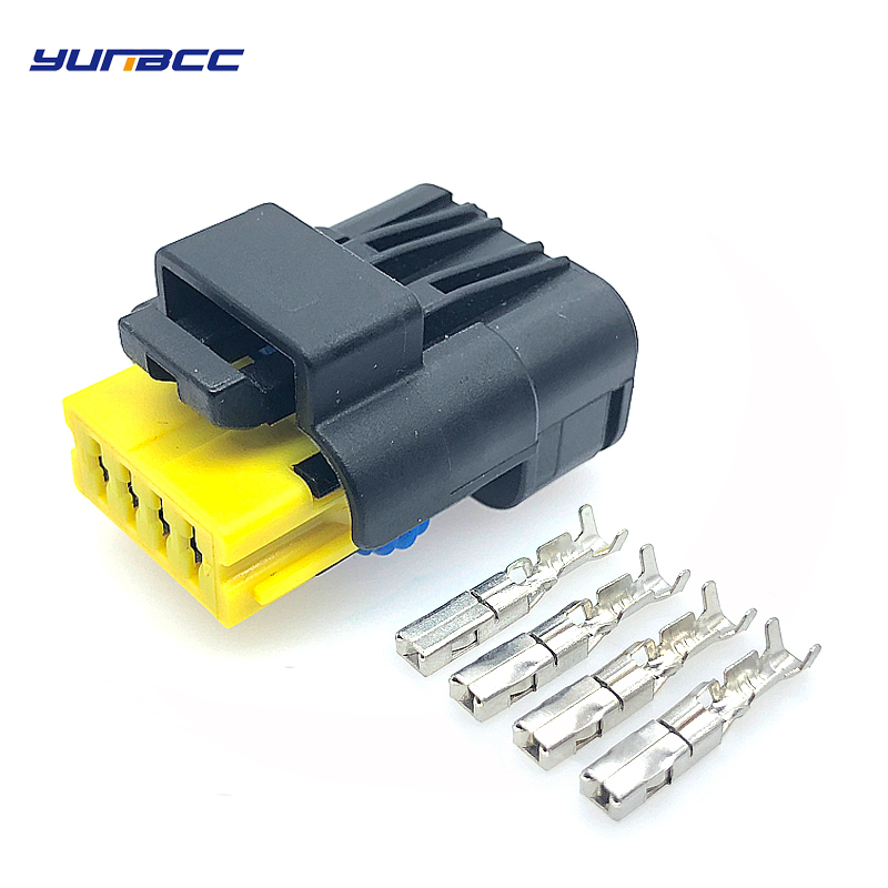 2sets 4pin 1.5mm Waterproof FCI Electrical Plug 211 PC042S4021 Automotive Wiring Harness Connector 211PC042S4021