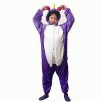 Children Sleepwear Purple Pink Blue Unicorn Children Jumpsuits Halloween Carnival New Year Cartoon Costumes Onesie Pajamas