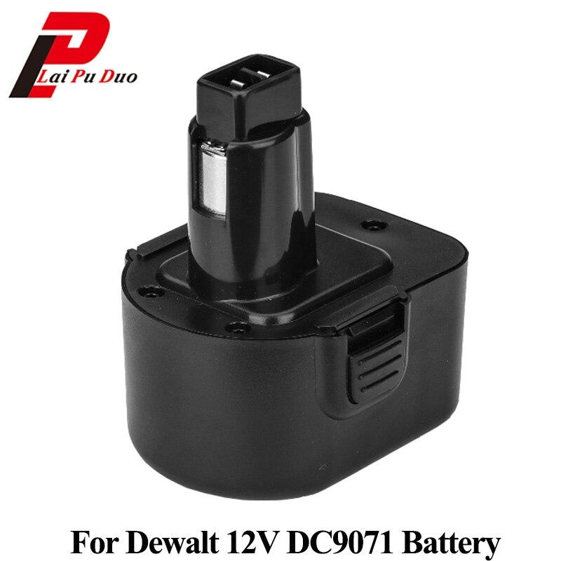 12V NI-CD Ni-MH Battery Replacement Power Tools Batteries Cordless Drill For Dewalt DE9074 DE9037 DE9071 DE9074 DE9075 DW9071