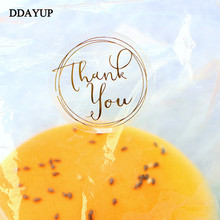120Pcs/Lot Round Transparent Design Thank You Seal Stickers DIY Deco Gift Sticker Label Stationery Supplies