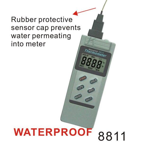 ФОТО AZ8811 Waterproof Digital Portable Thermocouple Thermometer Recorder AZ-8811