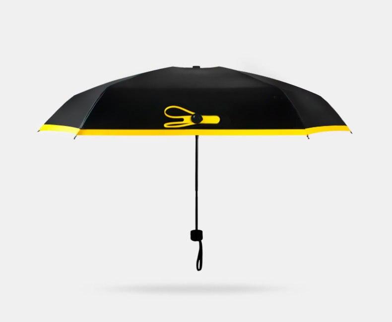 Mini Five Taschenschirm Fashion Black Sunshade Parasol Taschenschirm - Haushaltswaren - Foto 2