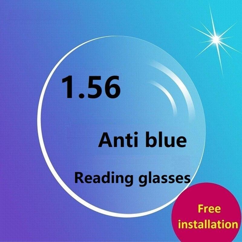 3efc53668e1 1.56 Anti blue ray aspheric brand optical prescription presbyopic  magnifying reading eyeglasses resin lenses for eye