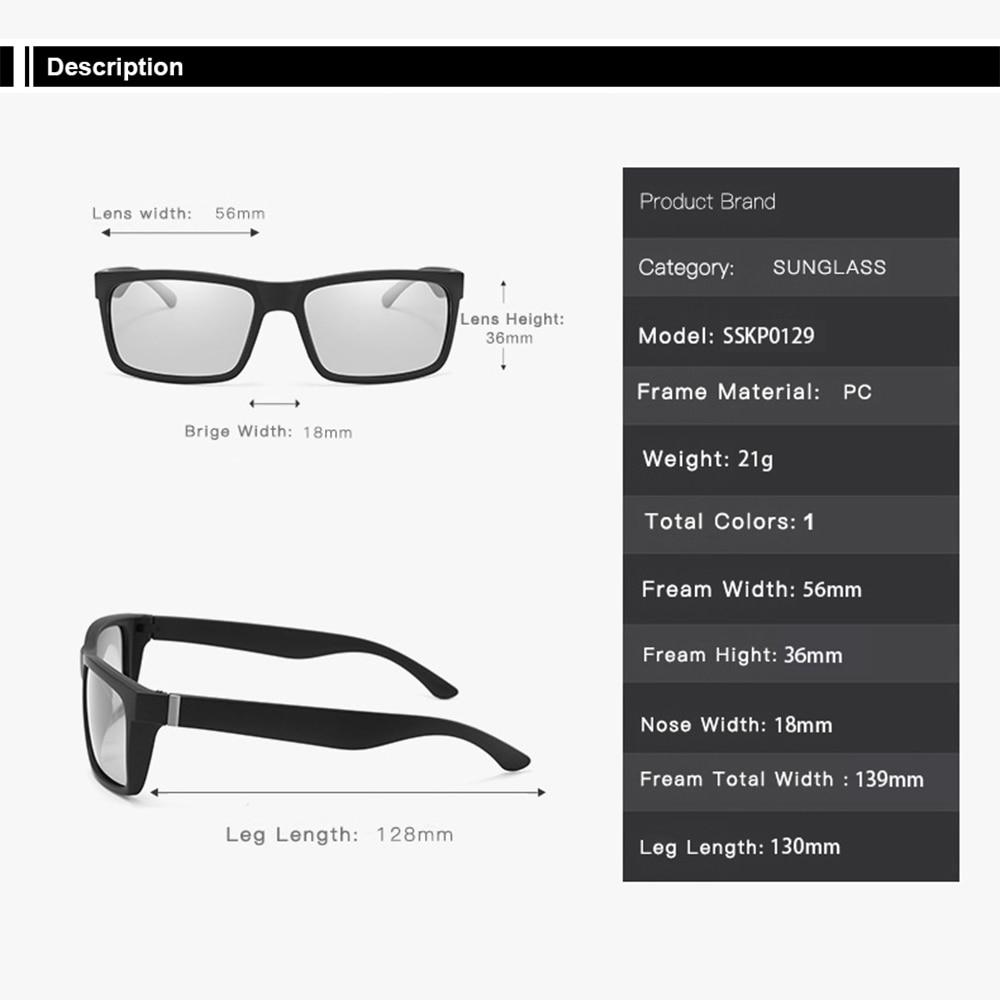 Купить с кэшбэком AIELBRO Mens Cycling Photochromic Sunglasses Men Polarized Discoloration Driver Sun glasses Transition Lens Sunglasses UV400