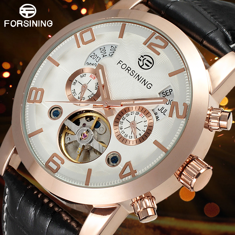 Automatic Business Watches Fashion Mechanical Watch for Men with Black Genuine Leather Band Gift Box frank buytendijk dealing with dilemmas where business analytics fall short
