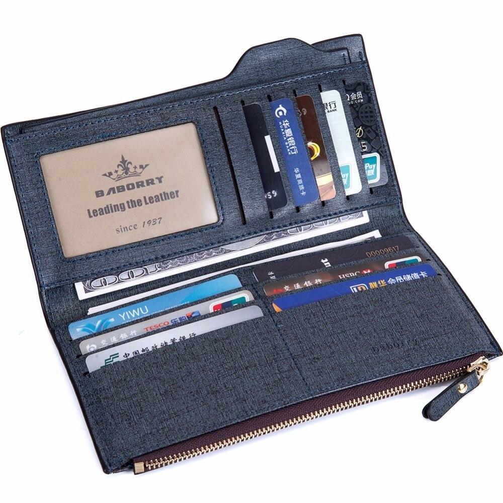 2019 Men Long Wallet Coin Bag zipper ID Credit Card Holder Bifold Coin