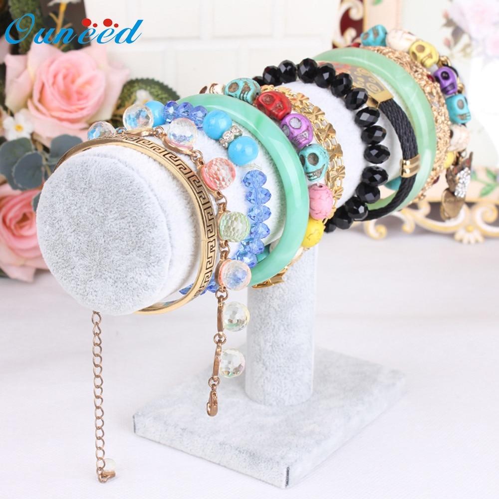 Ouneed organizer Storage Holder Velvet Jewelry Rack Bracelet Necklace Stand Organizer Holder Display U61212 DROP SHIP