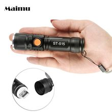 Maimu 3 Modes XML T6 3800LM Built-in 18650 USB Rechargeable Flashlight Portable Lantern Waterproof Torch Zoom Flash Light D24(China)