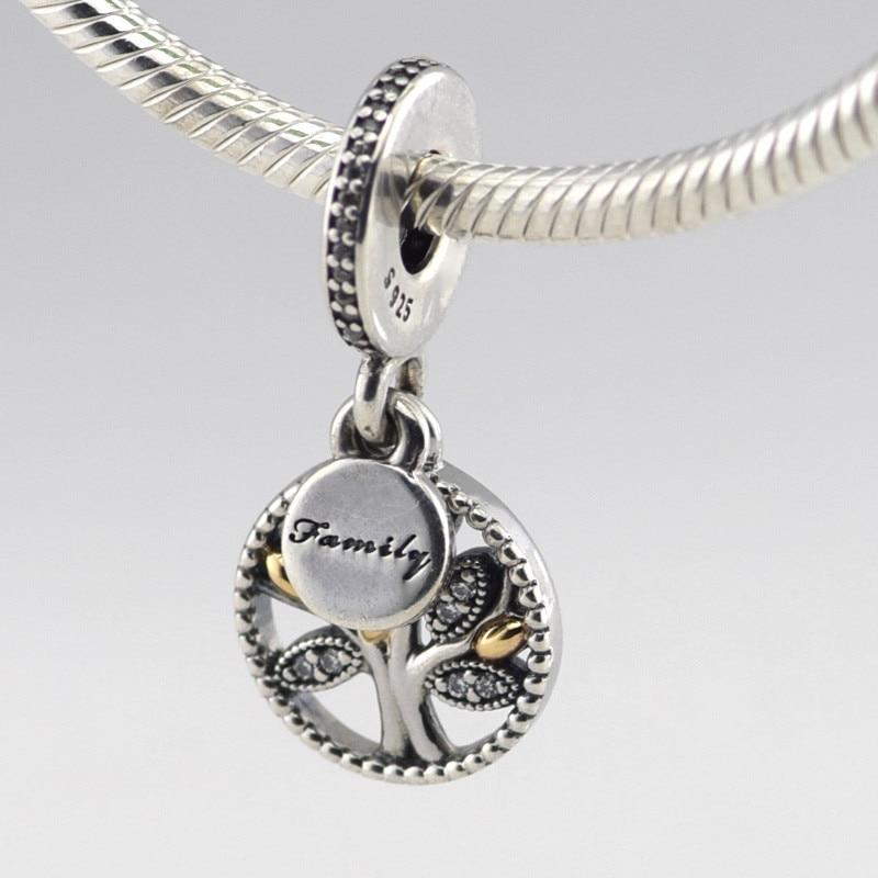 86e2fa43de047 US $21.59 28% OFF Fits European Silver Charm Bracelets New 100% 925  Sterling Silver DIY Beads Family Tree Silver Charm Fine Jewelry DIY  Wholesale-in ...