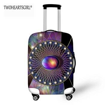 4ce08ecf5c64e TWOHEARTSGIRL Taş Tasarımcı Seyahat Bagaj Kapağı Elastik 18-30 inç Toz  Önleyici Bavul Kapak Fermuar ile Streç Bagaj Kapağı