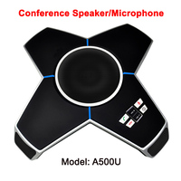full 360 omni directional audio conference speaker live studio telephone conferencing table microphone