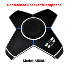 full 360 omni-directional audio conference speaker live studio telephone conferencing table microphone