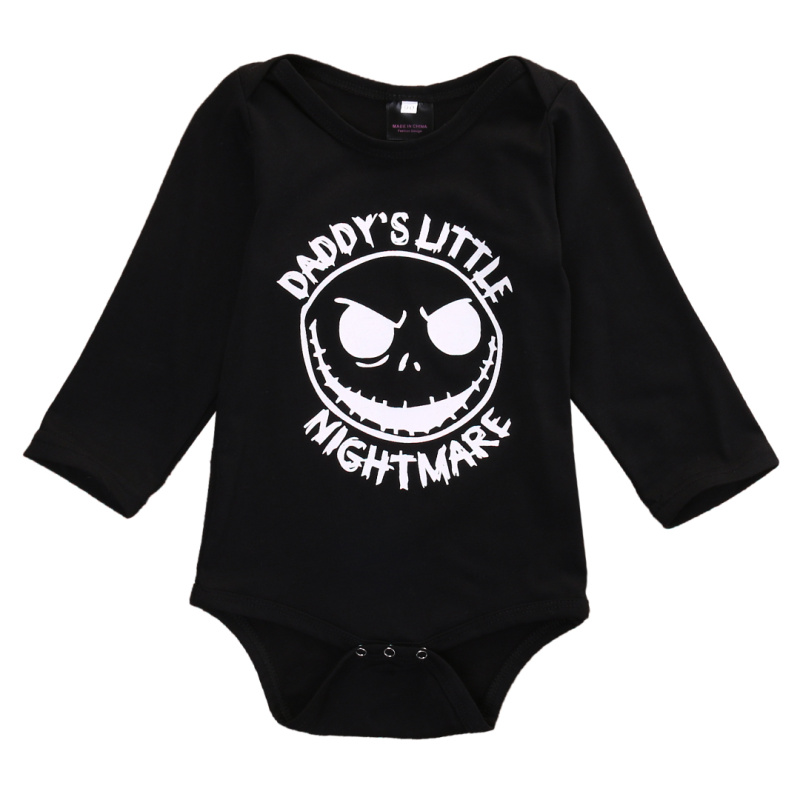 2017 Halloween Newborn Infant Baby Rompers For Boy Girl Long Sleeve daddy&mommy one-piece romper jumpsuits baby clothes black newborn baby boy rompers autumn winter rabbit long sleeve boy clothes jumpsuits baby girl romper toddler overalls clothing