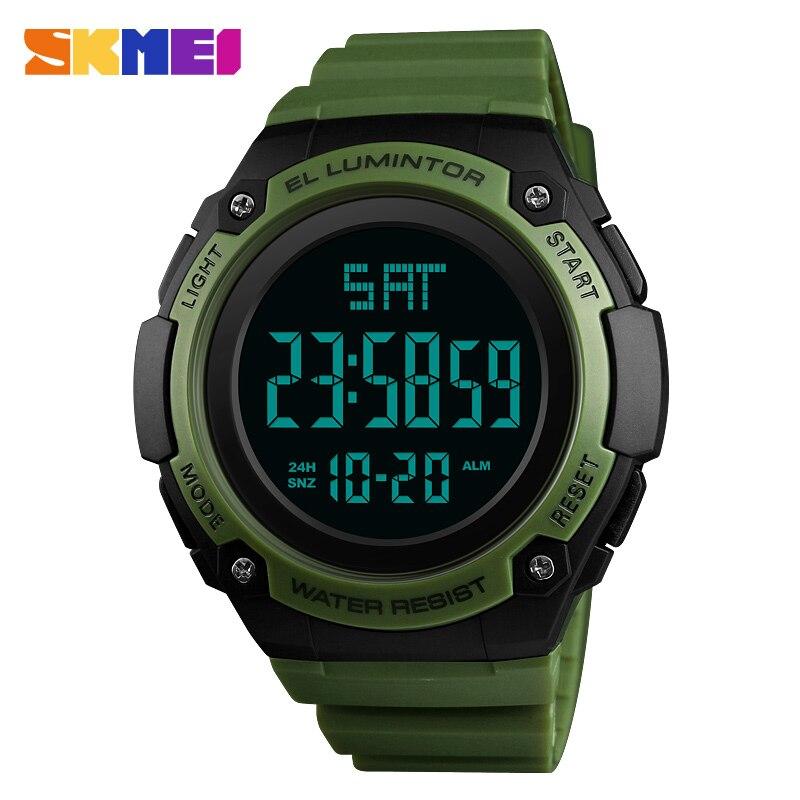 SKMEI LED Digital relojes para hombre marca de lujo reloj hombres impermeable moda al aire libre militar reloj deportivo masculino reloj de los hombres 2018
