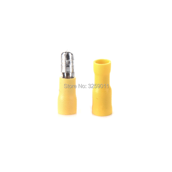 1PCS Crimp Terminal Butt Connector Male Female Pre-Insulating Joint 12 - 10 AWG MPD 5.5-195 FRD 5.5-195 yellow image
