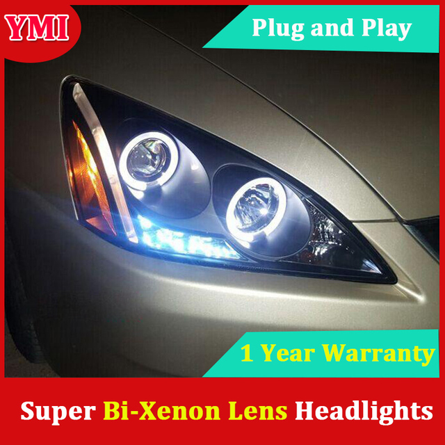 For Honda Accord Headlights 2003 2007 Led Headlight Drl Bi Xenon Lens High Low Beam Parking Hid Fog Lamp Head Front