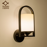 country LED Nordic balcony staircase aisle lamp wall lamp retro modern minimalist bedroom bedside lamp wall lamp
