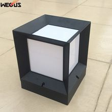 Square aluminum pillar lights, outdoor landscape garden lights, waterproof railings around  lights