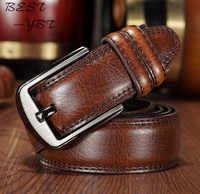 Cinghie degli uomini 140 CM 55in Fashion New luxury Cuoio Genuino più lungo di disegno Top Fibbia Regalo di Alta Qualità versione Estesa Fatty