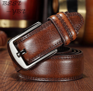 Image 1 - Men Belts 140CM 55in Fashion New luxury Genuine longest Leather design Buckle Top Gift High Quality Extended version Fatty
