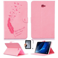 Retro Tablet Case Folding Flip Wallet PU Leather Stand Cover Case For Samsung Galaxy Tab A