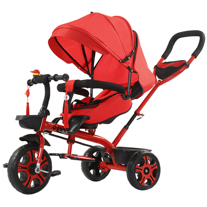 все цены на 4 In 1 Kids Tricycle Swivel Seat Pushchair Handbar Baby Stroller 2 In 1 3 In 1 Children Bicycle Can Be Sitting Lying Pram Buggy онлайн