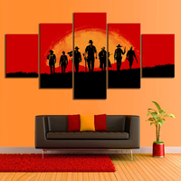 Video Games Poster Red Dead Redemption 2 Gutch's Gang Western Action Adventure Game Canvas Painting Wall Art Home Decor 1