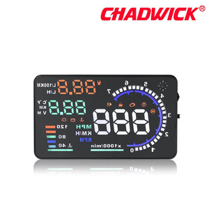 Image 5 - CHADWICK A8 HUD 자동차 헤드 업 디스플레이 LED 윈드 스크린 프로젝터 OBD2 스캐너 속도 경고 연료 소비 데이터 진단 5.5 인치