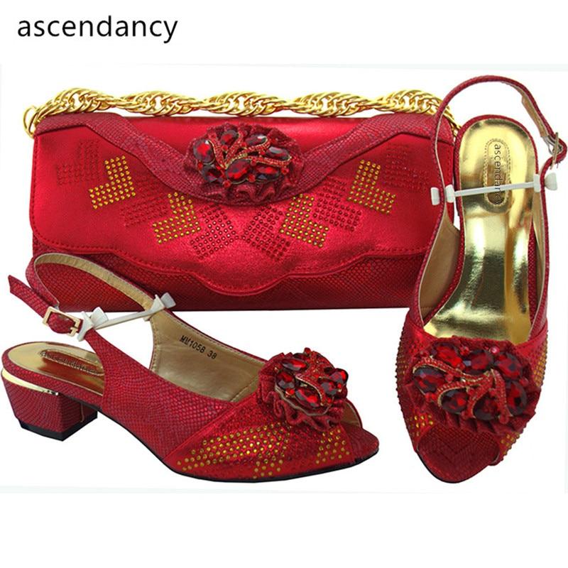 Sac Nigérian Les En Teal Assorties pourpre Royal Et Femmes argent Italien Ensemble or rouge Africain Chaussures bleu Rouge Sacs Ensembles Assortis Ventes Couleur nvqfFwE06