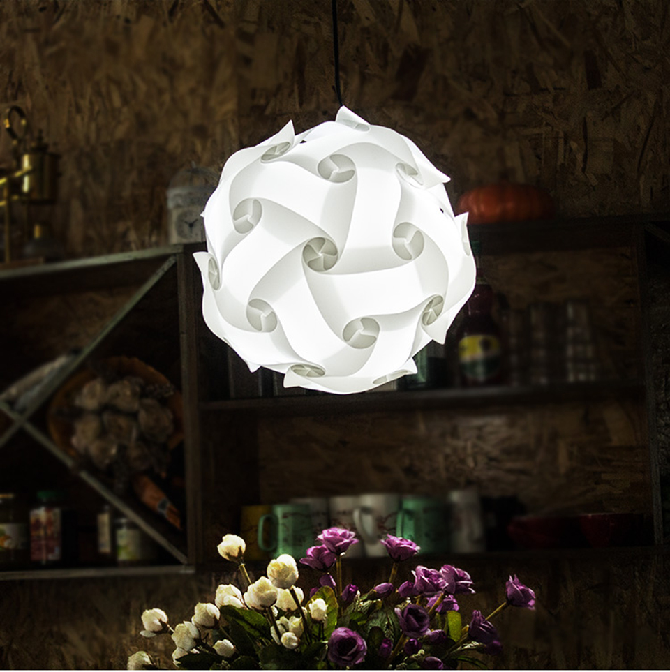 DIY Modern Ball Novelty IQ Jigsaw Lamp Puzzles Pendant Light + Power Cord and E27 Holder,Dia.25cm/30cm/40cm free shipping hot selling new modern dia 46cm ball pendant lamp light free shipping