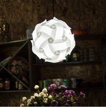DIY Modern Ball Novelty IQ Jigsaw Lamp Puzzles Pendant Light + Power Cord and E27 Holder,Dia.25cm/30cm/40cm free shipping