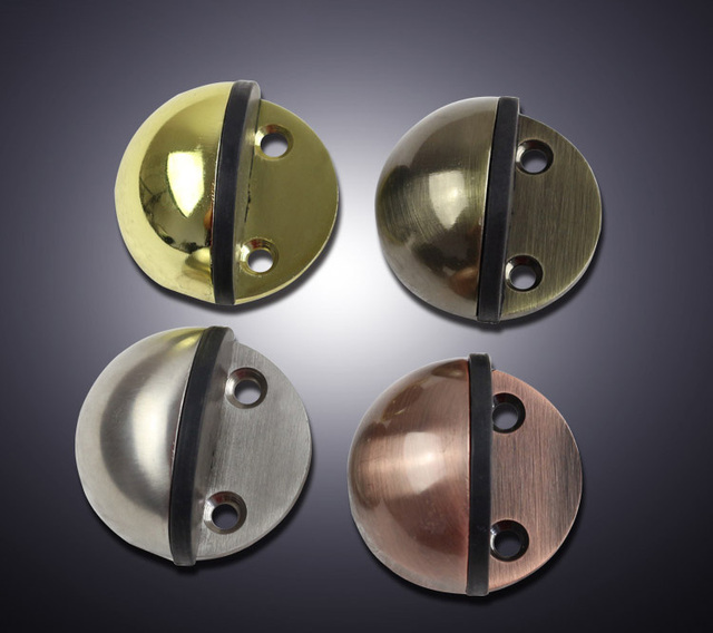 Four Color Stainless Steel Casting Satin Chrome Half Moon Door Stopper Ful Floor Mounted