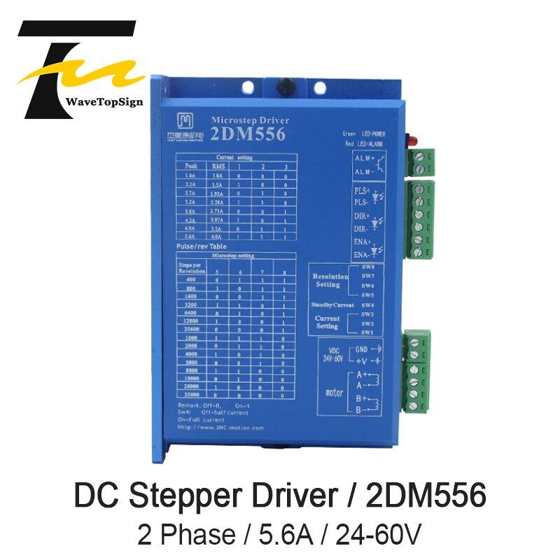 JMC 2Phase Stepper Motor Driver 2DM556 Input Voltage 24-60VDC Current 5.6A Adaptation motor 57 86JMC 2Phase Stepper Motor Driver 2DM556 Input Voltage 24-60VDC Current 5.6A Adaptation motor 57 86