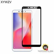 2PCS Full Glue Cover Glass Xiaomi Redmi 6A 6 Tempered Screen Protector For Phone Film