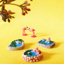 18pcs cute pond pool/miniatures/figurine/fairy garden gnome/terrarium decoration/crafts/diy supplies