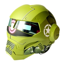 100% Оригинал MASEI 610 IRONMAN Мотоцикл Череп Открытым Лицом Шлем Каско Capacete Флип Мотоциклетный Шлем DOT утвержден