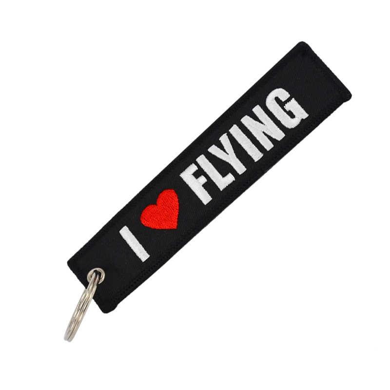 Bagagelabel Trave Accessoires Borduurwerk Lanceren Sleutel Pilot Reizen Tag Bagage Tags Voor Flight Crew Pilot Luchtvaart Lover