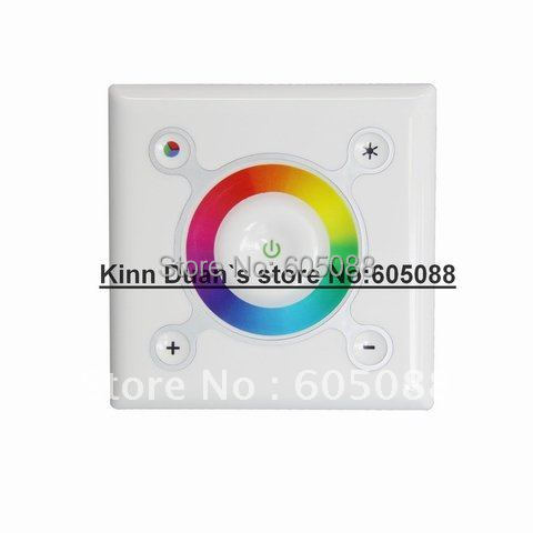 ФОТО 2016 Hot Selling Wall Mounted Touch Dimming RGB Led Controller For LED Strip/Bulb/Module Lighting DC12/24V CE&ROHS Free Shipping