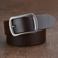 2017 new arrival men belt cowboy genuine leather luxury strap male belts for men fashion classice vintage pin buckle gift 125