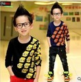 Free shipping fall/winter thick double- knit sweater bottoming boy sweater children's clothing
