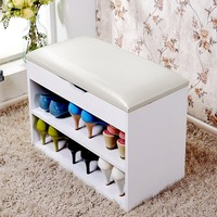 Newest Home Entryway Hallway Multifunctional Storage Shoes Cabinet Wooden Shoes Storage Organizer Cabinet with Padded Seat