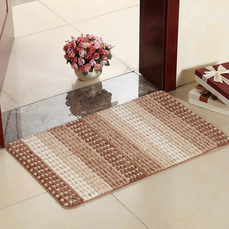 60*90 Absorption d'eau tapis de paillasson antidérapant tapis de salle de bain tapis de bain Shaggy tapis de cuisine porte tapis de sol tapis pour toilettes
