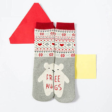 Christmas Deer Socks Women Mens Cartoon Design Casual Knit Wool Socks Men Winter Warm Shorts Ankle Socks Meias Calcetines