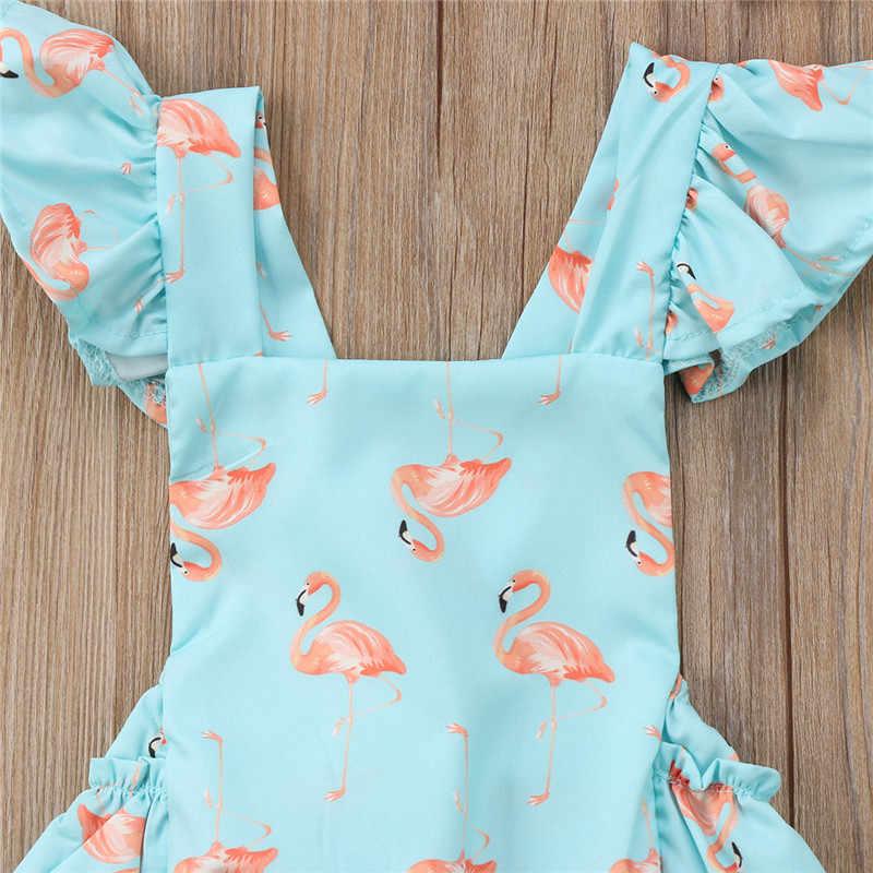 Боди с рюшами для маленьких девочек; Новинка 2019 года; Летний комбинезон без рукавов с открытой спиной для новорожденных + повязка на голову; милая одежда для маленьких девочек