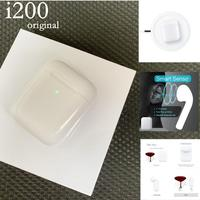 AT New i200 TWS Air 2nd Bluetooth Wireless Earphone Wireless charging case+Smart sensor+Real Battery+Pop up Earbuds PK i30 i10