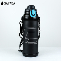 SAIWDA 800ML Thermos Water Bottle flask outdoor portable vacuum Cup Shaker travel pot stainless steel Blue Insulation cup
