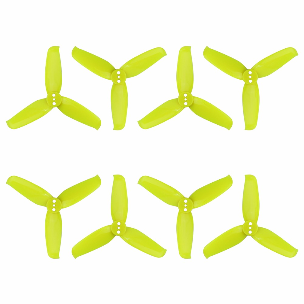 4 Pairs GEMFAN Flash 2540 2.5x4 2.5 Inch 3-Paddle Propeller with 1.5mm Mounting Hole For 1105 <font><b>1106</b></font> <font><b>Motor</b></font> Drone image